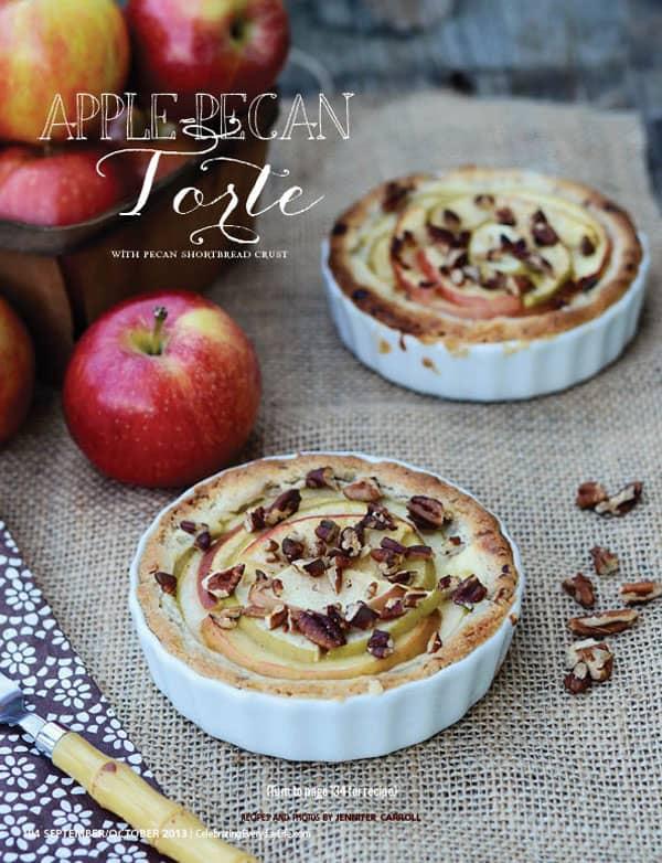 Apple Pecan Torte with Pecan Shortbread Crust, Celebrating Everyday Life blog