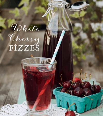 White Cherry Fizzes :: Summer Drink Recipe
