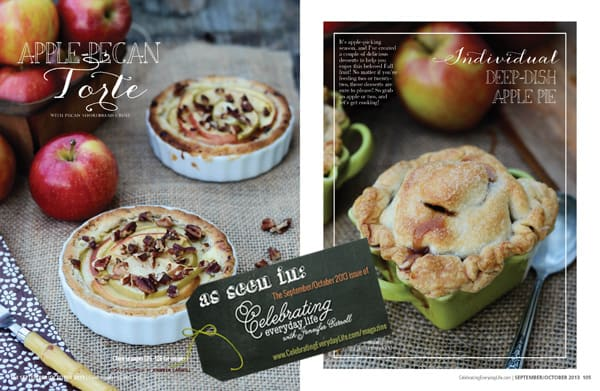 Apple Recipes from Celebrating Everyday Life with Jennifer Carroll, September October 2013 issue