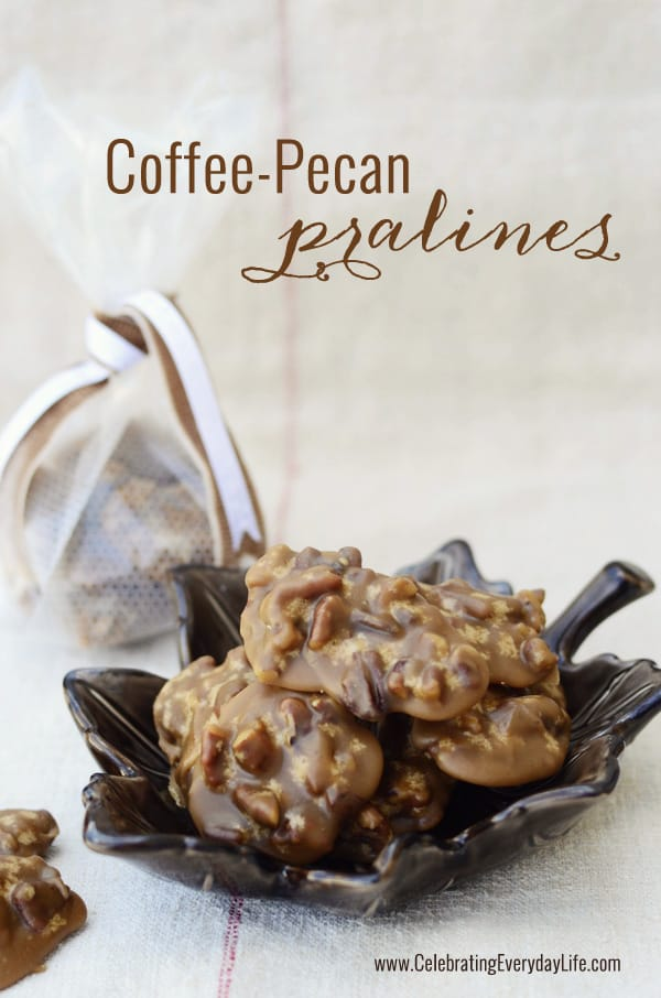 Coffee Pecan Pralines recipe, The Best Part from Folgers, coffee candy recipe, Celebrating Everyday Life with Jennifer Carroll