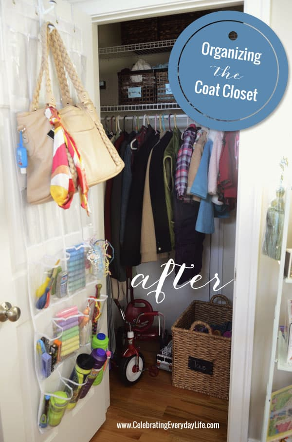 Organize the Coat Closet, Celebrating Everyday Life with Jennifer Carroll, Organize your home