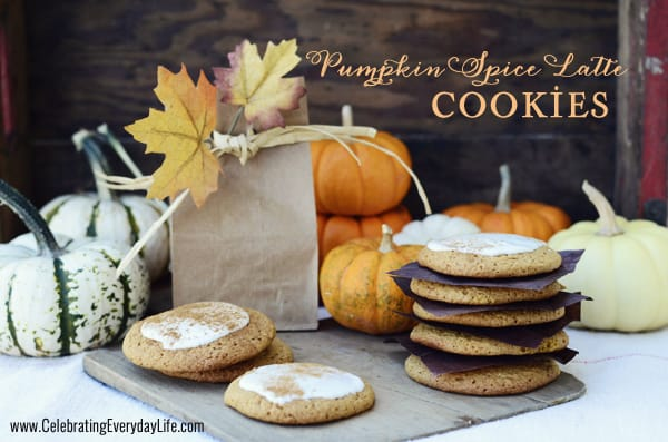 Pumpkin Spice Latte cookie recipe, Fall cookie recipe, easy cookie recipe, Celebrating Everyday Life with Jennifer Carroll,