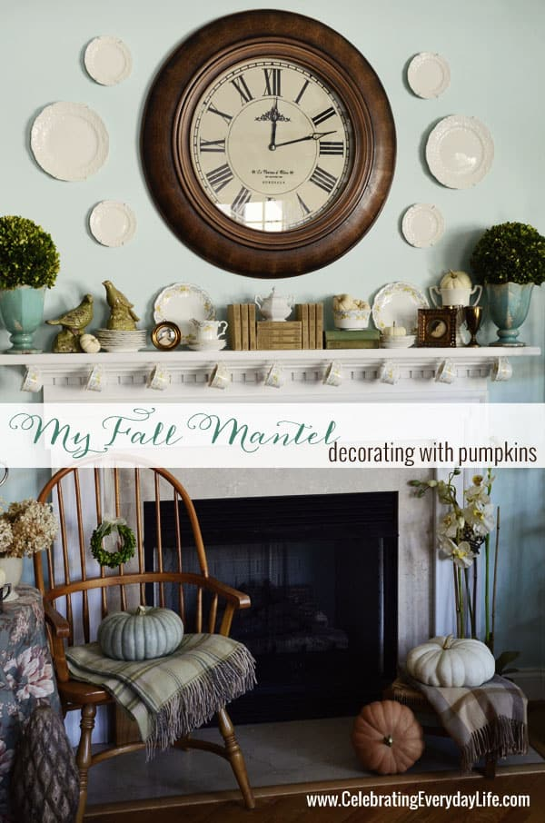 My October 2013 Mantel And A China Mystery Celebrating