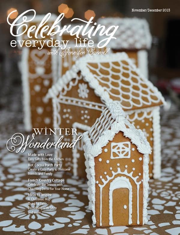 November December 2013 issue of Celebrating Everyday Life with Jennifer Carroll