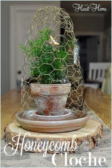 Honeycomb Cloche from All Things Heart and Home
