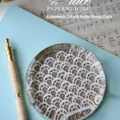 {DIY Gift} A Burlap & Lace Paperweight with Martha Stewart Crafts