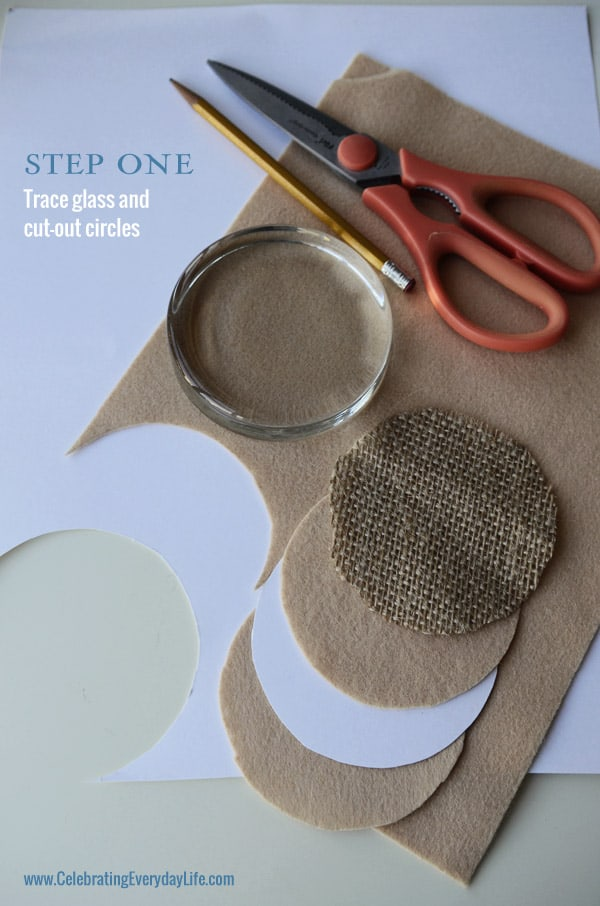 Step 1 How to Make Burlap and Lace Paperweight, Martha Stewart Crafts, Homemade Gift Idea, Celebrating Everyday Life with Jennifer Carroll