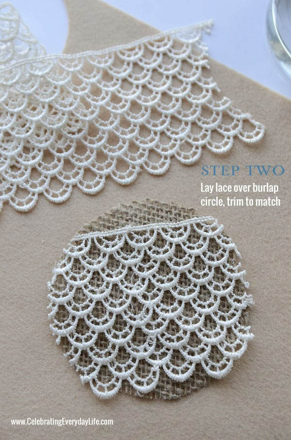 Step 2 How to Make Burlap and Lace Paperweight, Martha Stewart Crafts, Homemade Gift Idea, Celebrating Everyday Life with Jennifer Carroll