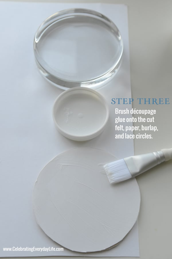 Step 3 How to Make Burlap and Lace Paperweight, Martha Stewart Crafts, Homemade Gift Idea, Celebrating Everyday Life with Jennifer Carroll