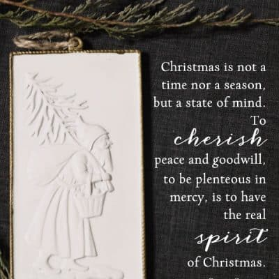 Cherish Peace, An Inspiring Christmas Quote