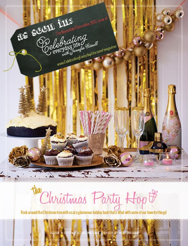 Christmas Party Hop as seen in the November/December issue of Celebrating Everyday Life with Jennifer Carroll