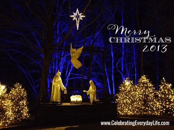 Nativity at ChristmasTown Williamsburg Virginia, Celebrating Everyday Life with Jennifer Carroll