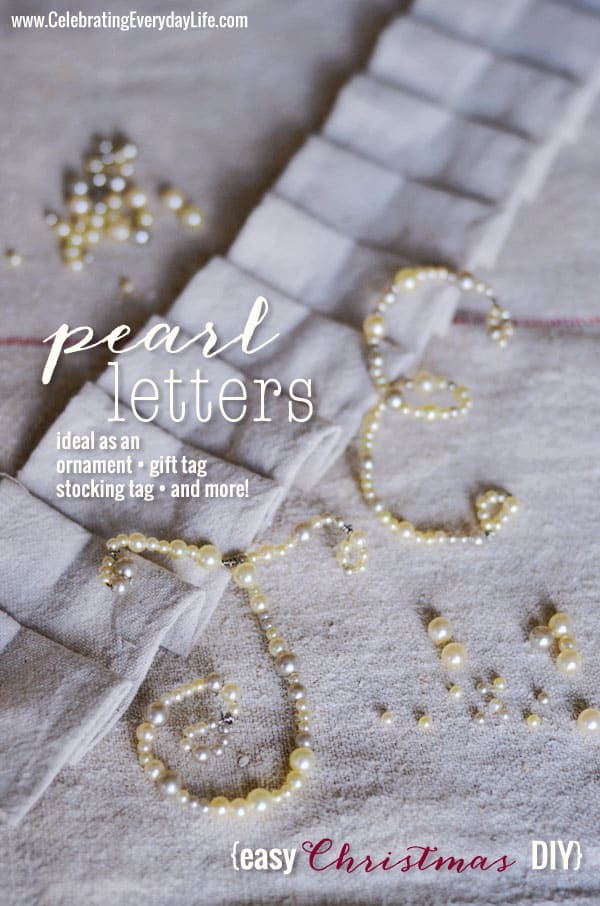 How to Make Pearl Letters, Celebrating Everyday Letters with Jennifer Carroll
