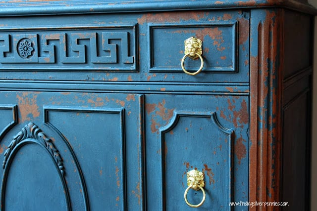 Jameson dresser makeover by Silver Pennies