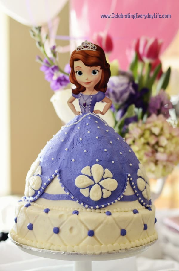 Sofia the First Cake, Sofia the first birthday party, 3rd birthday party, Celebrating Everyday Life with Jennifer Carroll