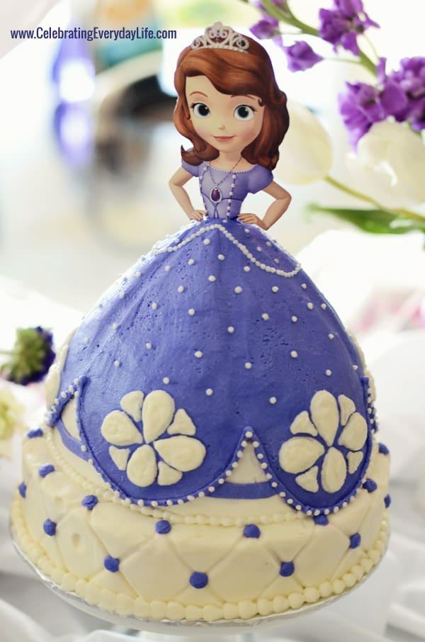 How To Make Sofia The First Dress Cake
