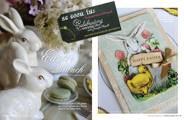 Easter Brunch as seen in the March/April issue of Celebrating Everyday Life with Jennifer Carroll