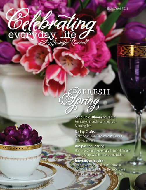 March April 2014 edition of Celebrating Everyday Life with Jennifer Carroll