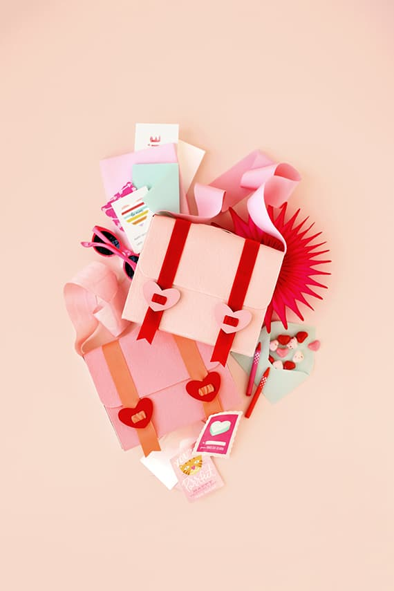 DIY Valentine Mail Bag from Julep blog and minted.com