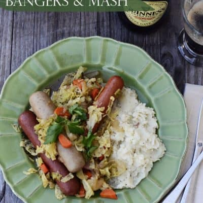 Irish Inspired Bangers & Mash Recipe {Happy St. Patrick's Day!}