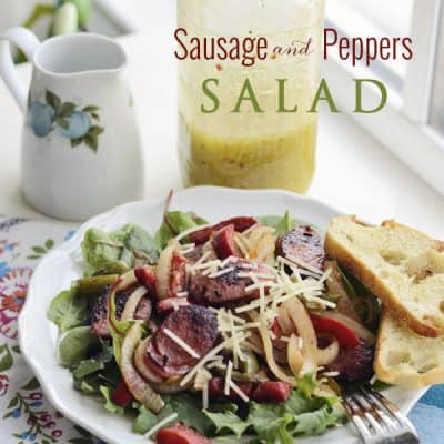 Sausage & Peppers Salad {Low-Carb Recipe}