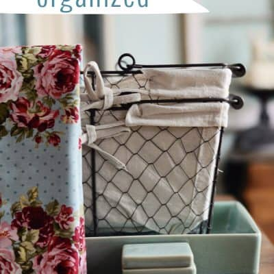 Pretty and Functional Organizing Supplies