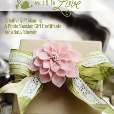 Showered with Love {Wrapping a Baby Shower Gift Certificate}