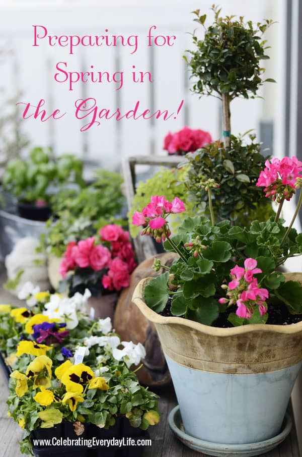 Preparing for Spring in the Garden, Celebrating Everyday life with Jennifer Carroll