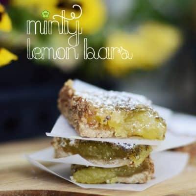 Minty Lemon Bars