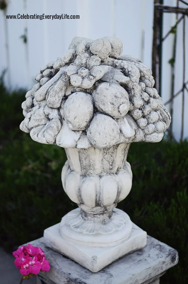 Garden Statuary, Concrete Fruit Basket, Celebrating Everyday Life with Jennifer Carroll