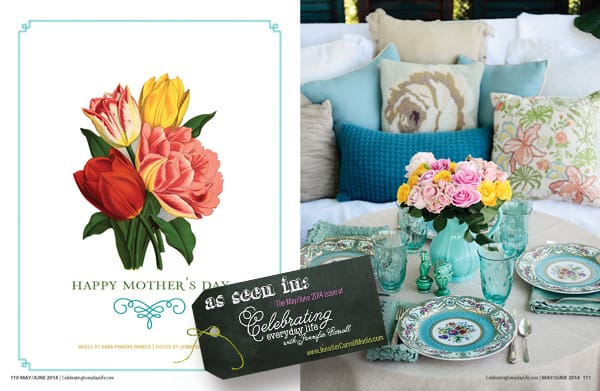 Mother's Day Porch Party, As seen in the May/June 2014 edition of Celebrating Everyday Life with Jennifer Carroll, www.JenniferCarrollMedia.com
