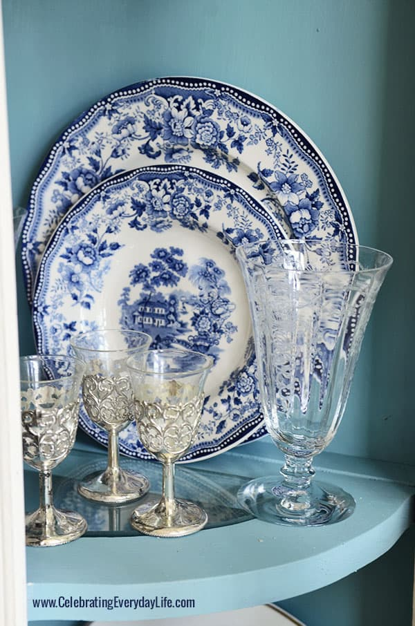 Blue and White Plates, Tonquin Royal Staffordshire Clarice Cliff china, Celebrating Everyday Life with Jennifer Carroll