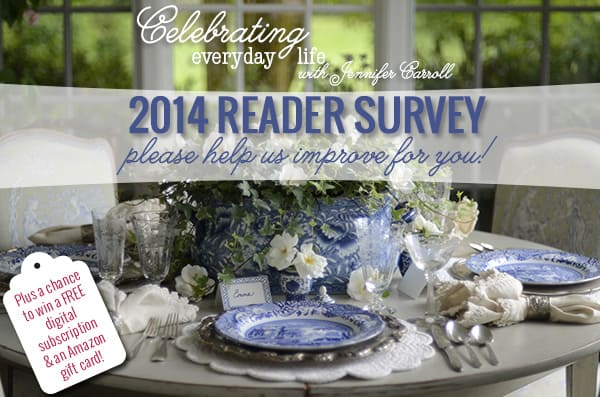 2014 Celebrating Everyday Life magazine Reader Survey Graphic