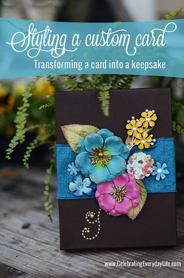 Styling a Custom Card, Transforming a Card into a Keepsake, Making a special Bon Voyage Card, Celebrating Everyday Life with Jennifer Carroll