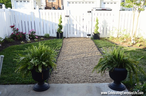Have The Best Yard On The Block With A Diy Pea Gravel Path Celebrating Everyday Life With