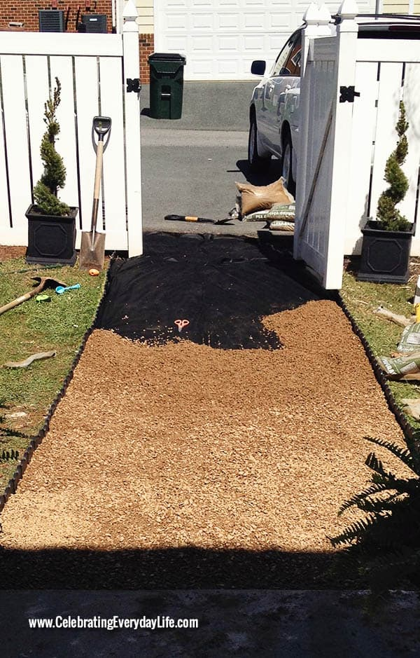 Tips on installing a pea gravel garden path, Backyard DIY project, How to install a garden path, Celebrating Everyday Life with Jennifer Carroll