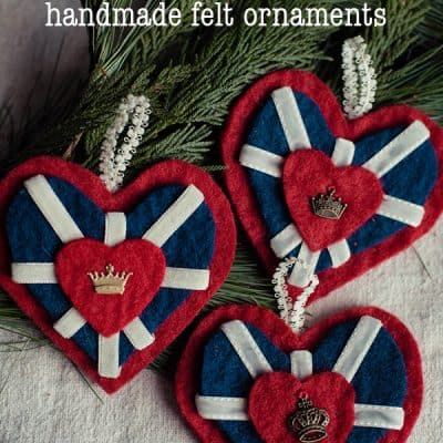 Union Jack Heart Ornament Video Tutorial