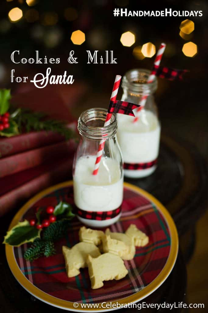 #HandmadeHolidays, Holiday Decor Hacks with STAPLES, DIY Christmas Decor, Handmade Holiday Decor, Celebrating Everyday Life with Jennifer Carroll, Plaid Washi Tape, Scotch® Expressions Washi Tape, Red Buffalo Plaid, DIY Christmas Cookies and Milk for Santa