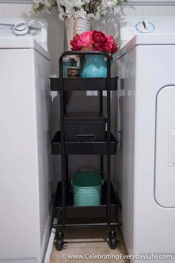 BEFORE And AFTER Laundry Room Makeover Austin Cart From World Market