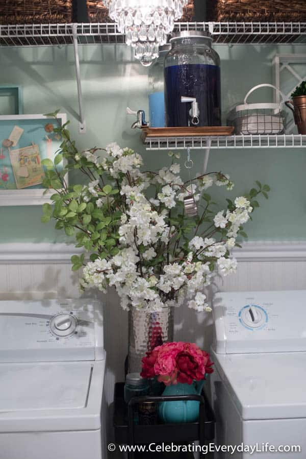 BEFORE and AFTER Laundry Room, Laundry Room Makeover, French inspired Laundry Room, Garden Laundry Room, Celebrating Everyday Life with Jennifer Carroll