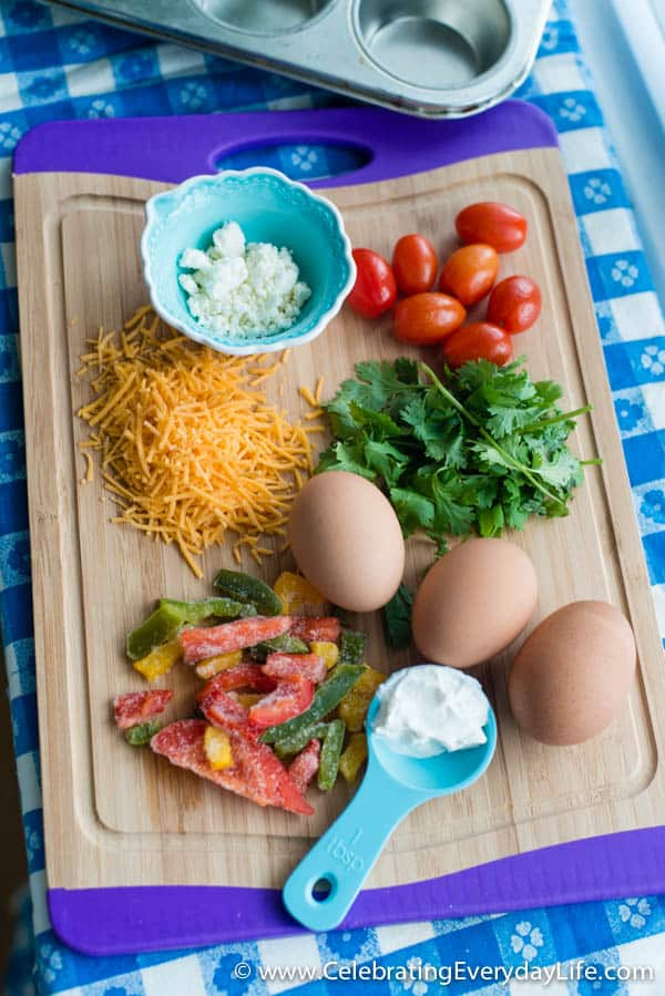 Southwestern Egg Cups, Easy Breakfast recipe, Paleo Breakfast recipe, Celebrating Everyday Life with Jennifer Carroll
