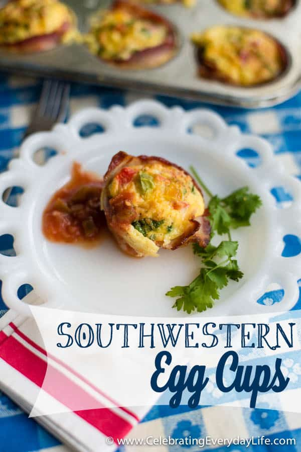 Southwestern Egg Cups, Easy Breakfast recipe, Paleo Breakfast recipe, Celebrating Everyday Life with Jennifer Carroll