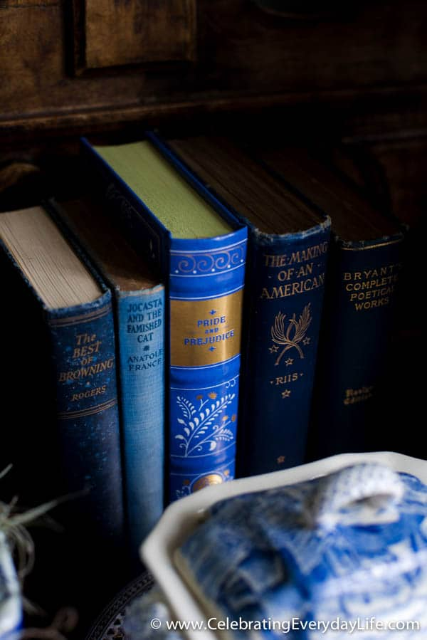 Blue book collection, A Beginners Guide to Decorating with Blue and White Part One, How to Decorate with Blue and White, Celebrating Everyday Life with Jennifer Carroll