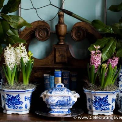 A Beginner's Guide to Decorating with Blue and White & this week's menus