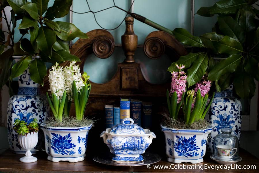 A Beginners Guide to Decorating with Blue and White Part One, How to Decorate with Blue and White, Celebrating Everyday Life with Jennifer Carroll