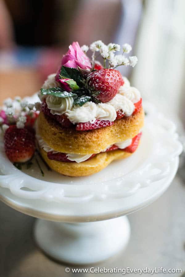 Victoria Sponge Cake Recipe, Sponge Cake recipe, Heart Cake, Valentine Dessert, Celebrating Everyday Life with Jennifer Carroll
