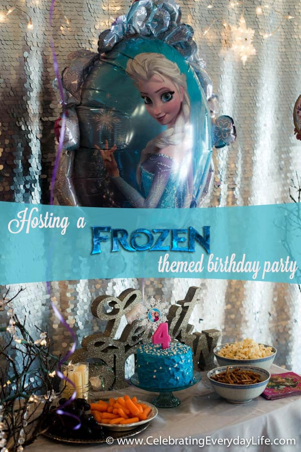 Tips for hosting a Frozen themed birthday party!