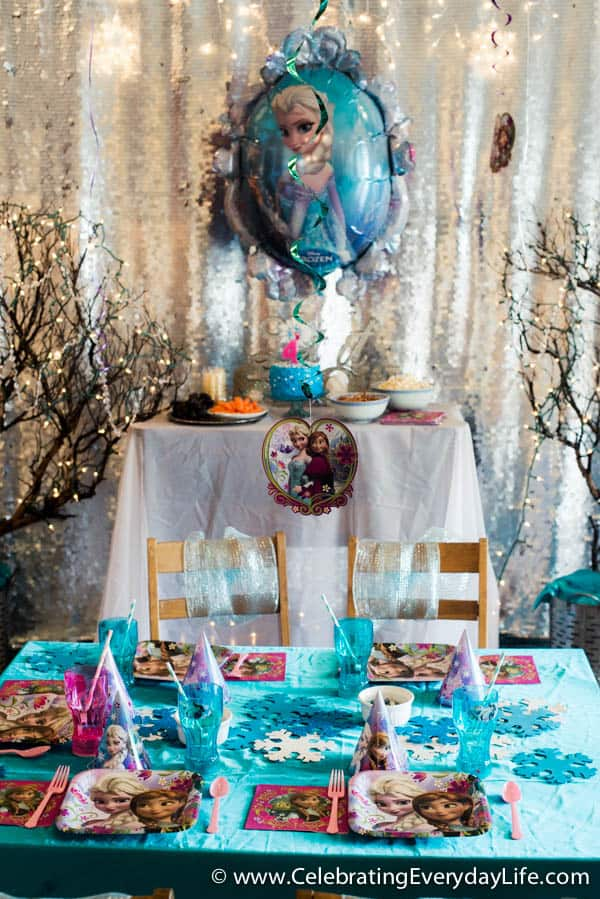 Frozen Themed Party Decoration Ideas Part - 36: Tips For Hosting A Frozen Themed Birthday Party! | Celebrating Everyday  Life With Jennifer Carroll