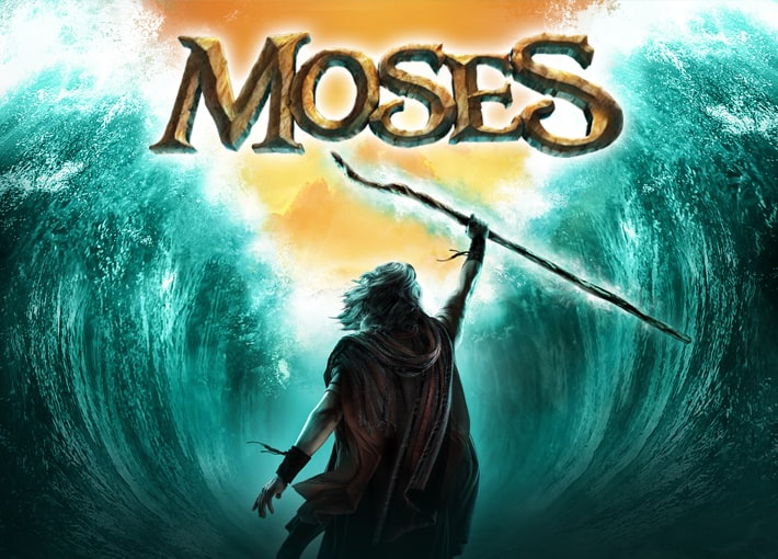 """""""Sight & Sound Theatres: Moses"""" is a biblical musical with fabulous costumes, terrific actors, and spectacular songs. This one features wonderful special effects, such as the burning bush, which God uses to speak to Moses; the parting of the Red Sea; a ship ."""