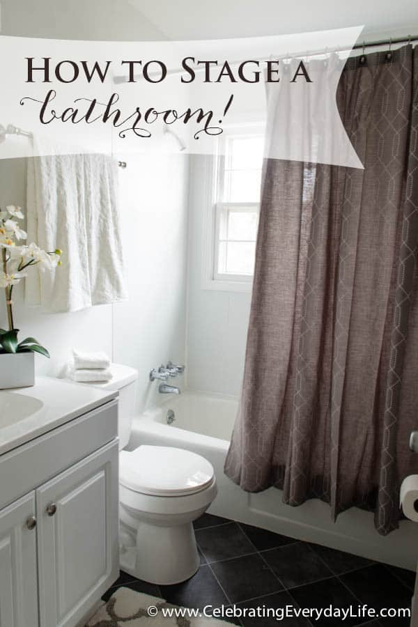 How to stage a bathroom or two celebrating everyday for Cost to stage a house